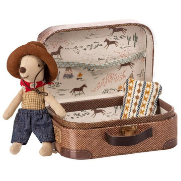 Maileg Travel Mouse in a Suitcase