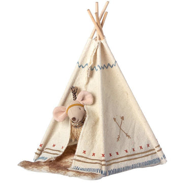 MAILEG MOUSE WITH TENT