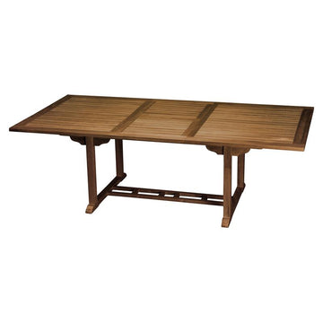 TEAK RECTANGULAR EXTENSION TABLE