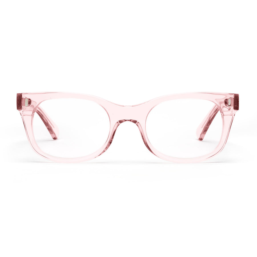 Clear Pink Reading Glasses
