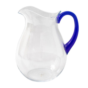 ACRYLIC JUG WITH COBALT HANDLE