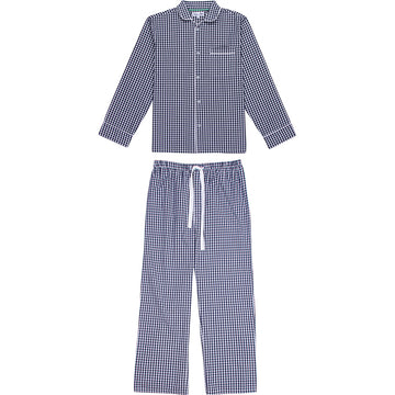 Men's Hepburn Gingham Navy Long PJ Set