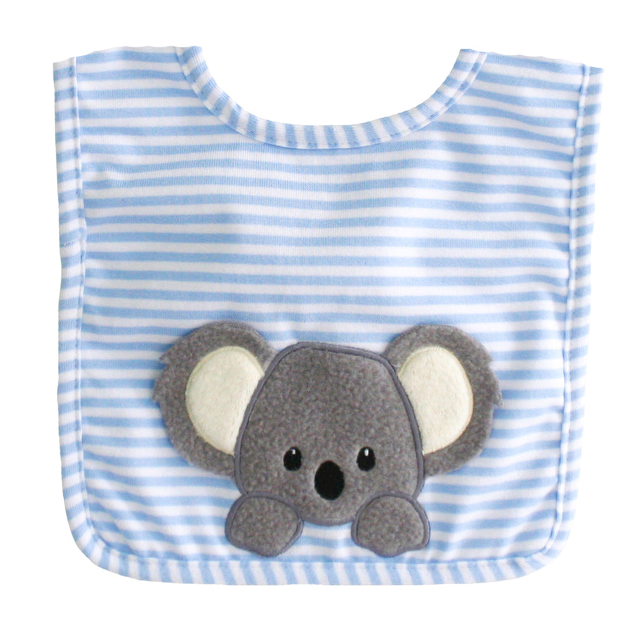Blue stripe Koala Bib