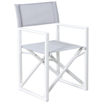 WHITE ALUMINIUM DIRECTOR CHAIR