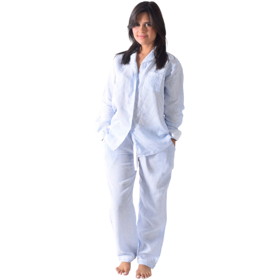 Women's Bora Bora Linen Long PJ Set