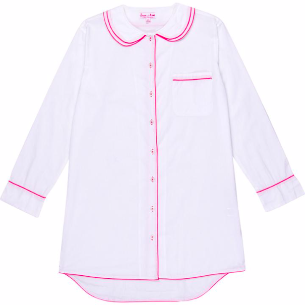 White Cambric cotton night shirt