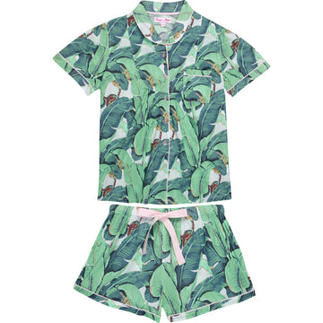 Women's Martinique Banana Leaf Short Pyjama Set