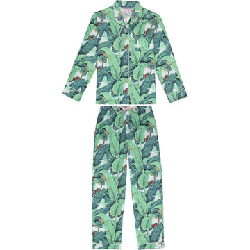 Women's Martinique Banana Leaf Long Pyjama Set