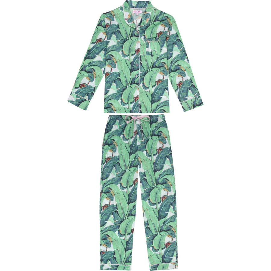 Men's Martinique Banana Leaf Long Pyjama Set