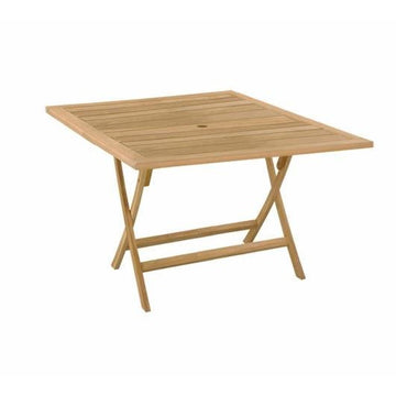SQUARE TEAK FOLD UP TABLE 120CM X 120CM