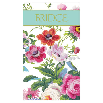 Bridge Score Pad - Edwardian Garden