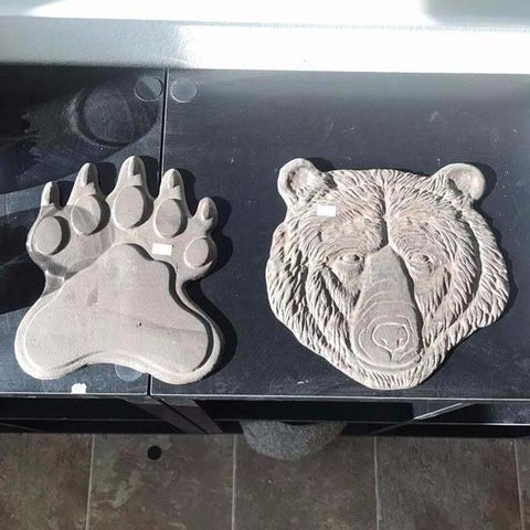 Cast Iron Bear Head and Paw