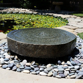 Natural Millstone Fountains Sutherland Landscape Center