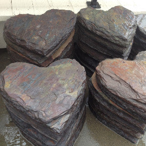 real-stone-heart-stepping-stones-colorful-slate