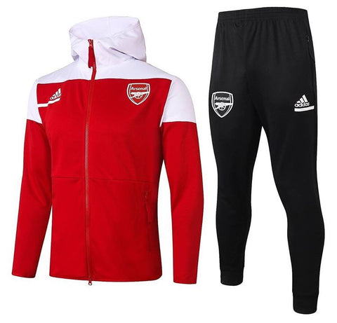 Arsenal 2020/21 Full Zip Hooded Tracksuit Set