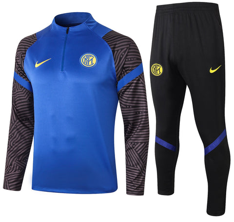 Inter Milan 2020/21 1/4 Zip Full Tracksuit Set