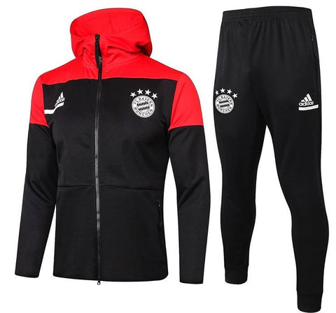 Bayern Munich 2020/21 Full Zip Hooded Tracksuit Set