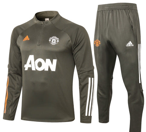 Manchester United 2020/21 1/4 Zip Full Tracksuit Set