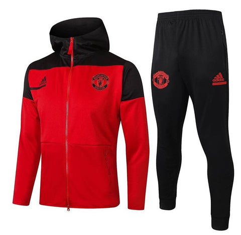 Manchester United 2020/21 Full Zip Hooded Tracksuit Set