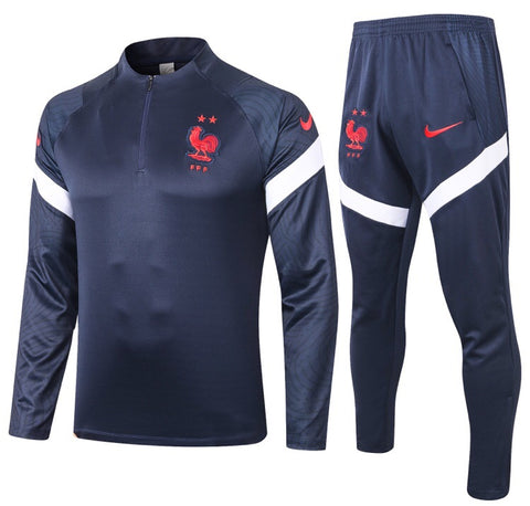 France National Team 2020/21 1/4 Zip Full Tracksuit Set