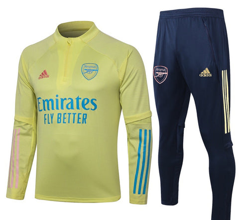 Arsenal 2020/21 1/4 Zip Full Tracksuit Set