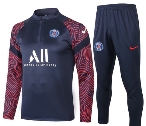 PSG 2020/21 1/4 Zip Full Tracksuit Set