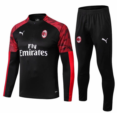 AC Milan 1/4 Zip Full Tracksuit Set