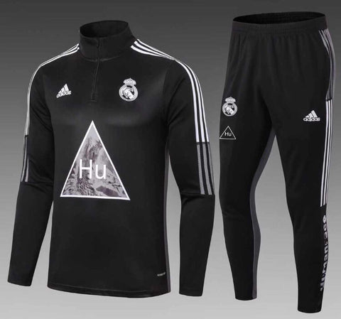 Real Madrid x Humanrace 1/4 Zip Full Tracksuit Set