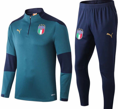 Italy National Team 1/4 Zip Full Tracksuit Set