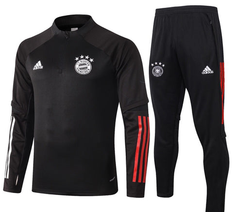 Bayern Munich 2020/21 1/4 Zip Full Tracksuit Set