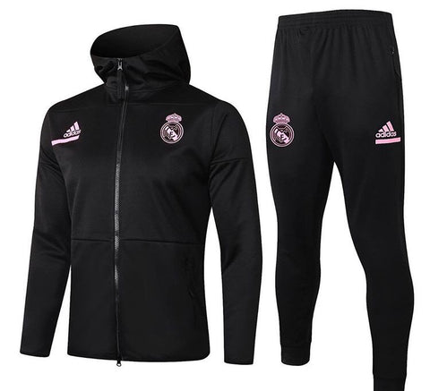 Real Madrid 2020/21 Full Zip Hooded Tracksuit Set