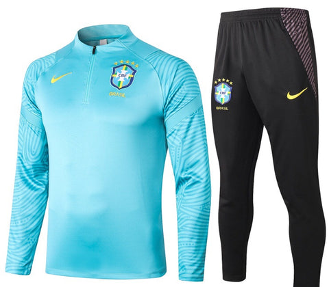 Brazil National Team 2020/21 1/4 Zip Full Tracksuit Set