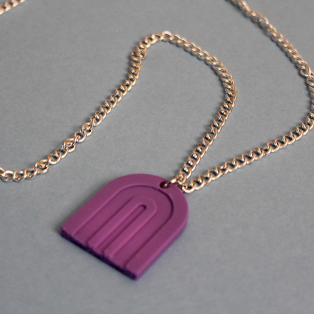 3D Printed Rainbow Necklace - Matte Lavender