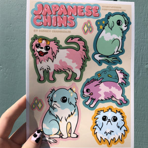 Japanese Chin Sticker Sheets