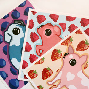 Berry Dogs Print Set