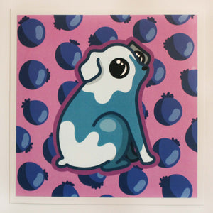 Blueberry Dog 6 x 6 Print