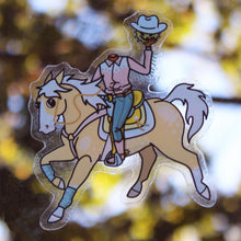 Load image into Gallery viewer, Headless Cowboy Transparent Stickers