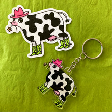 Load image into Gallery viewer, Neon Party Cow Sticker