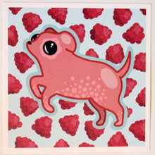 Load image into Gallery viewer, Raspberry Dog 6 x 6 Print