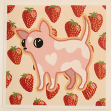 Load image into Gallery viewer, Strawberry Dog 6 x 6 Print