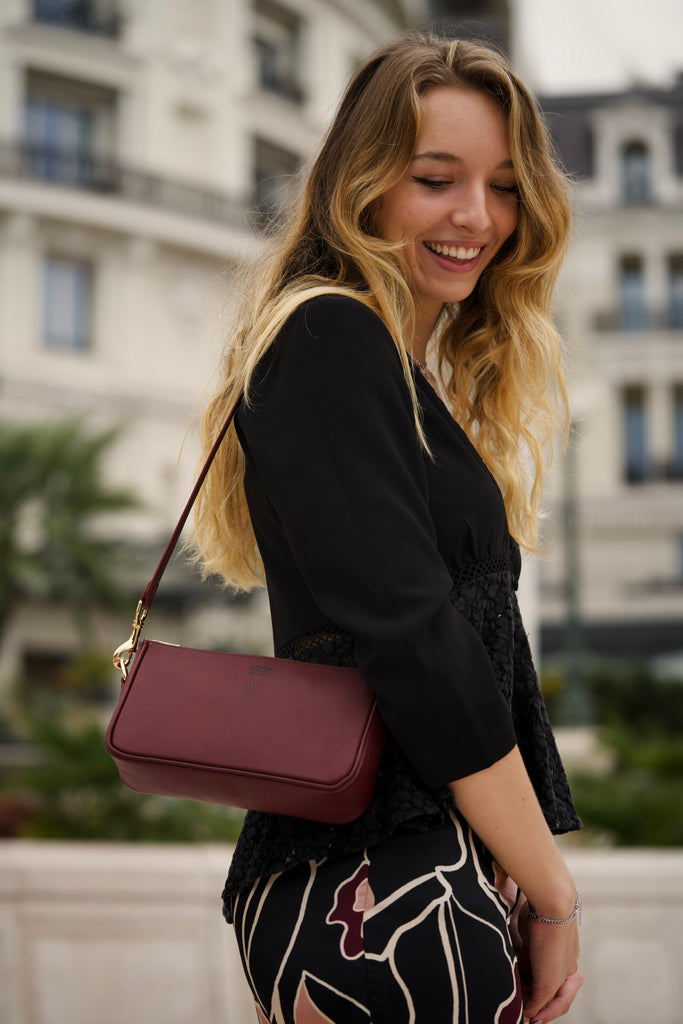 Mrs zeng bag bordeaux alran sully goat skin leather custom made made to order monaco monte carlo