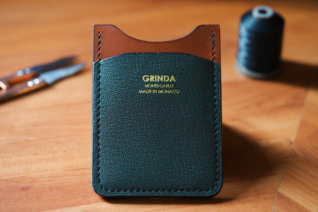 Odeon vertical wallet youtube video handmade leathercraft made in monaco