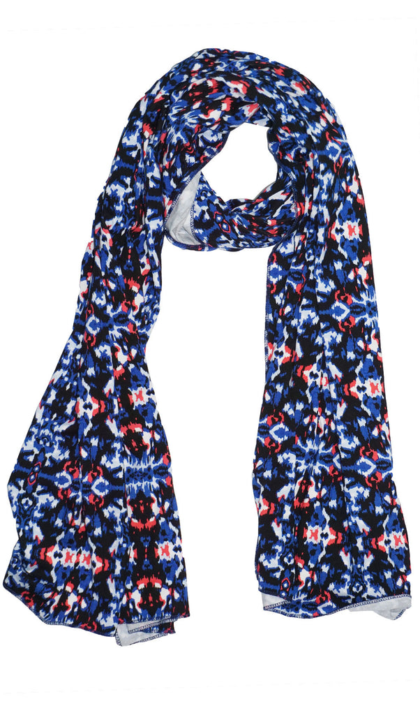 Print Jersey Hijab Scarf - Abstract Blue
