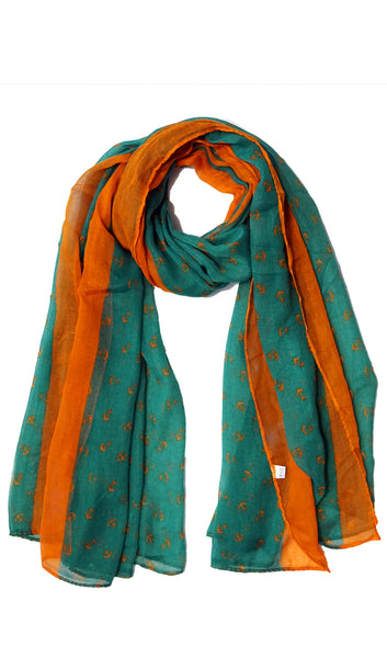 Anchor Hijab Scarf - Green