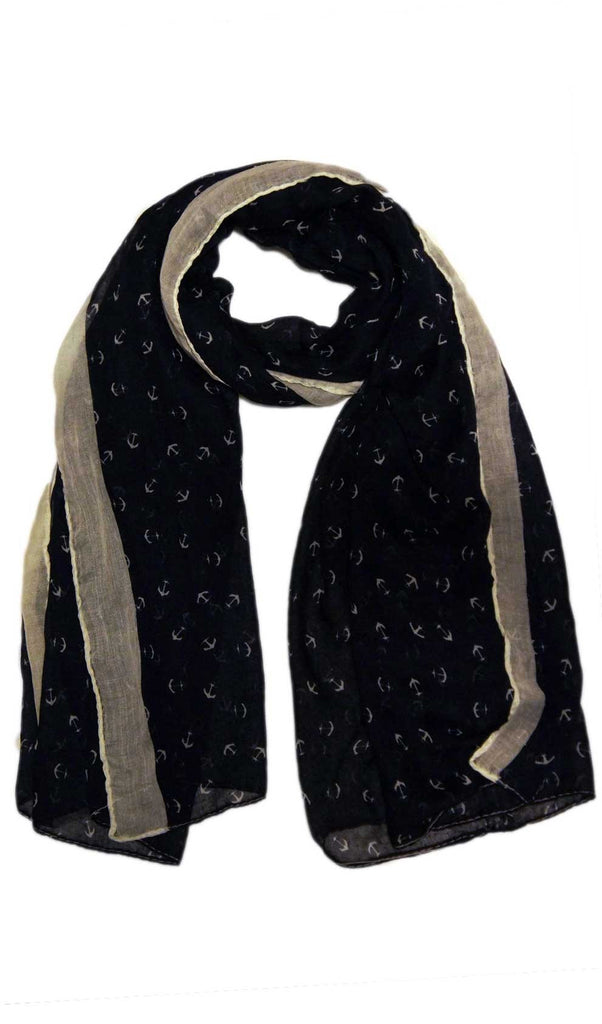 Anchor Scarf Hijab - Navy