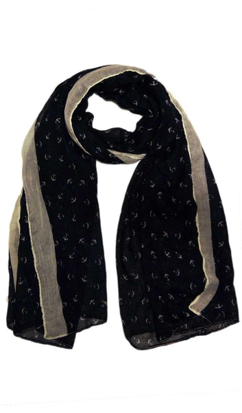 Anchor Hijab Scarf - Navy