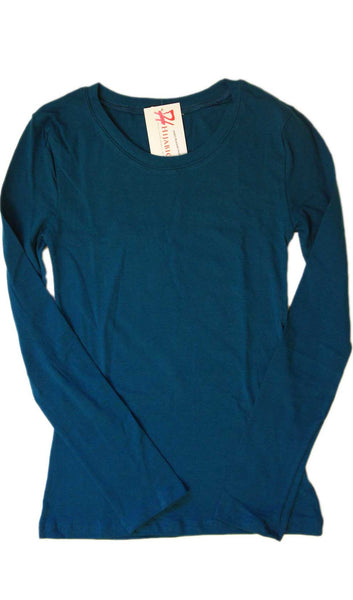 Long Sleeve T-Shirt - Blue Jade