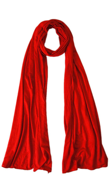 Maxi Jersey Hijab Scarf - Candy Red