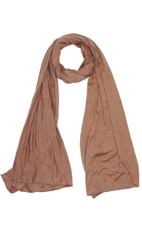 Cotton Jersey Hijab Scarf - Coffee