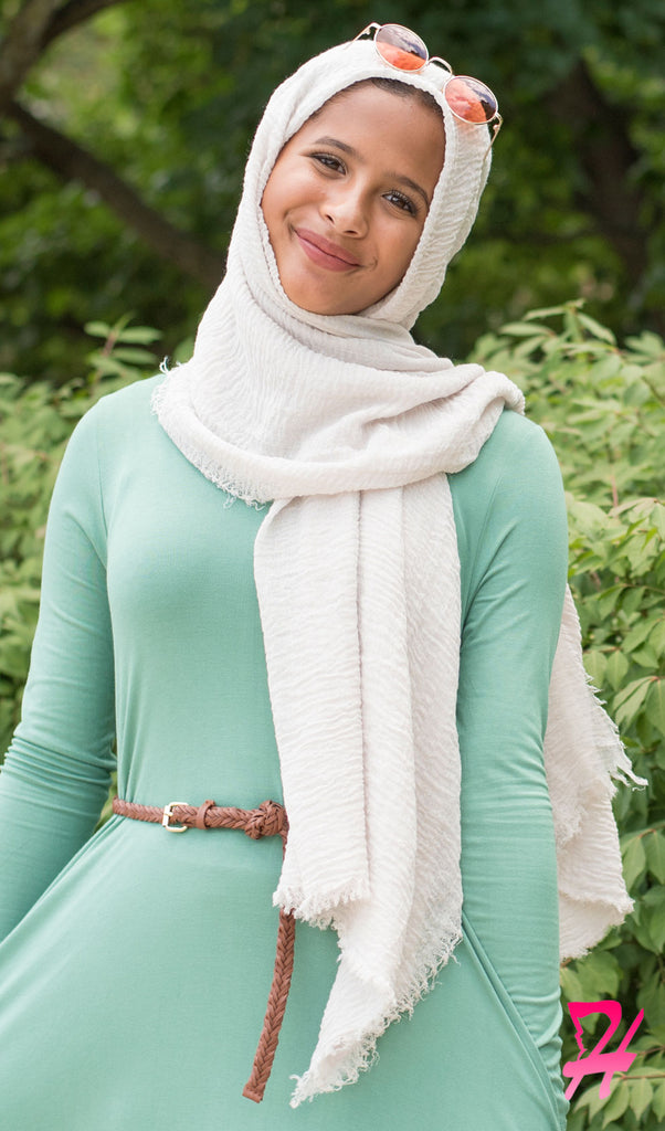 Cotton Cloud Hijab Scarf - Off White